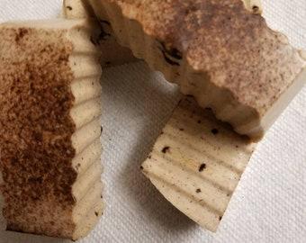 Homemade shea butter or goats milk bar soap