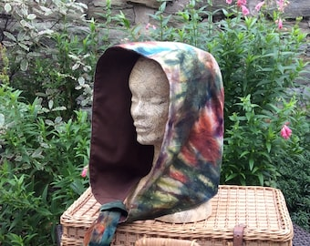 TieDye Hood, Hand Dyed Snood, Scoodie