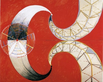 The Swan No. 9 by Hilma af Klint Home Decor Wall Decor Giclee Art Print Poster A4 A3 A2 Large FLAT RATE SHIPPING