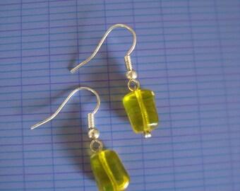 Fancy yellow bead earrings