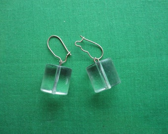 1960's Clear Lucite Earrings