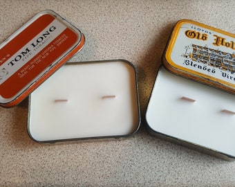 Vintage tabacco tin candles