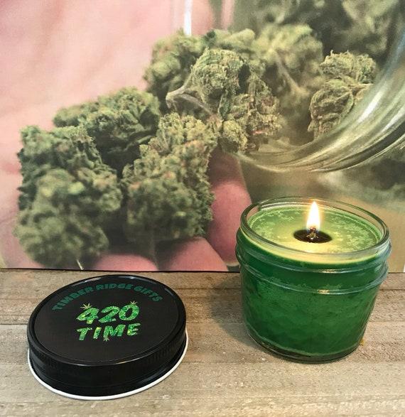 Marijuana Candle, Marijuana Scented, Marijuana Gift, Adult Candle, Adult Gift, Pot Scented Candle, Pot Candle, 420 Gift, 420 Time