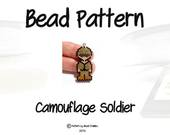 Camouflage Soldier Bead PATTERN, Armed Forces Military Design | Digital Dowload