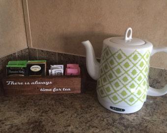Rustic Wooden Tea box, tea organizer, kitchen organizer box
