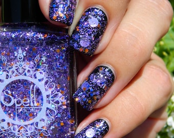 SPELL POLISH ~You Should Be Dancing~ GLITTERBOMB purple glitter nail polish!