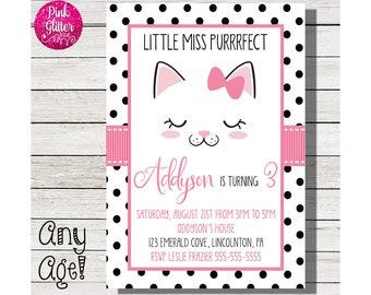 Kitten Invite, Kitten Invitation,  Kitten Birthday, Kitty Invite, Cat Invite, Kitty Birthday, Cat Birthday, Cat, Kitty,DIGITAL FILE
