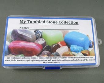 My Polished Stone Collection - Unique Gift Idea, Healing Crystals & Stones, Polished Rocks, Kids Gift, Rock Collection Display Case T506