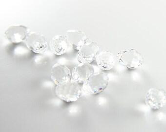 2pcs Swarovski Drop 6002 Faceted Round Tear-Crystal 10x7mm (SW90001)