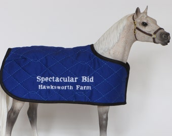 SPECTACULAR BID embroidered blanket for Breyer model horse NOT lined