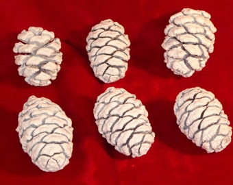 Easter eggs ready to paint! White pine cones  for the Easter table.