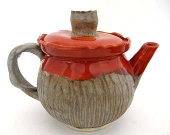 CeramicTeapot - Seed Pod Series - Hand Thrown and Altered - Ready to Ship