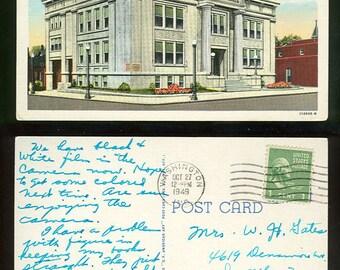 City Hall Washington, Indiana Vintage Postcard