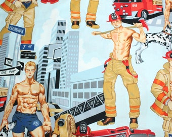 Ready for action, Hunk Fabric by the yard, Large Scale Print By the Yard
