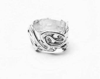 Band ring Silver 925 Woman