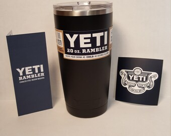 YETI RAMBLER! Custom Powder Coated Yeti (BPA Free) 20oz or 30oz Tumbler, Colster or Lowball - Matte Black
