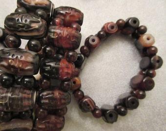 Tibet Dzi Agate Stretch Bracelet 1pc