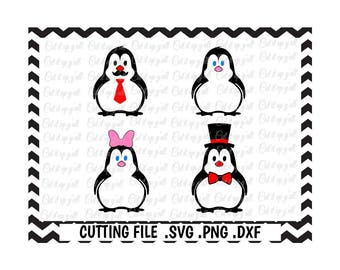 Penguin Svg-Png-Dxf-Fcm, Cutting Files For Silhouette Cameo/ Cricut, Svg Download.