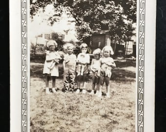 Original Vintage Photograph Summer Kids