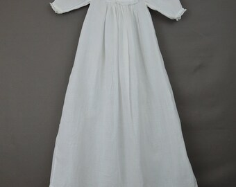 Vintage Infant Baby Dress Gown with Eyelet, Edwardian 1900s Antique Children's Clothing