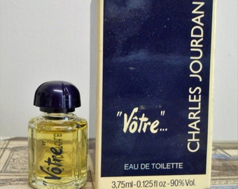 Votre eau de toilette for women by Charles Jourdan. 3.75 ml / 0.125 fl. oz. miniature, new in box.