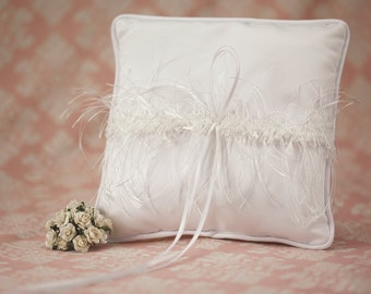 Satin and Silk Trim Wedding Ring Bearer Pillow - 75325111