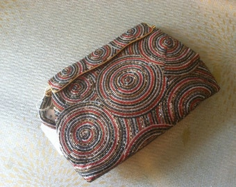 Beautiful multicolored beaded purse with a beaded handle