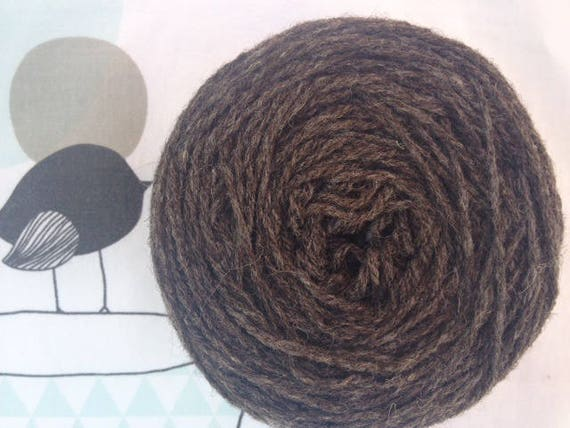 Country grey Brown wool - TOISONS Brittany