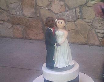 Interracial Wedding Cake Topper