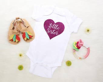 Little Sister Shirt - Sister Sibling Shirt - Baby Sister- Little Sister - Pregnancy Announcement - Gender Reveal - Baby Announcement