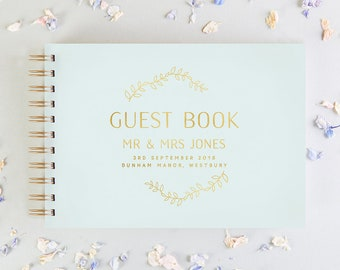 Rustic Wedding Guest Book Foil