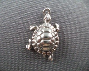 STERLING SILVER Turtle Charm for Charm Bracelet