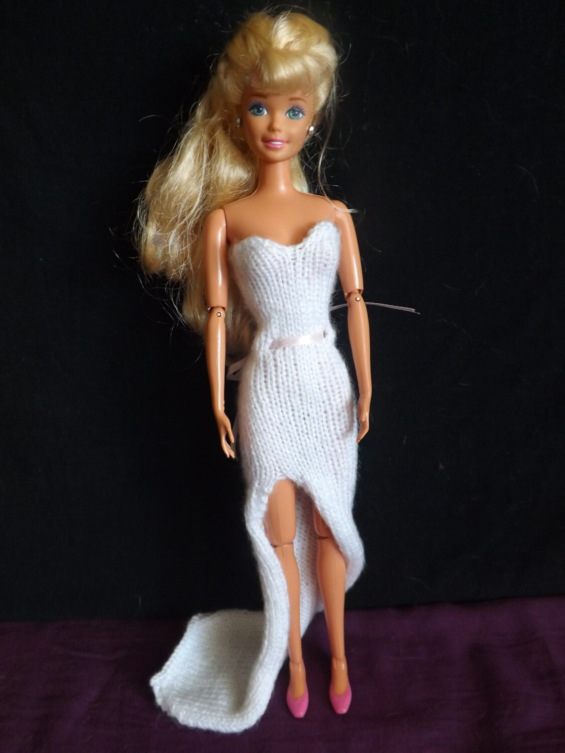 PATTERN - Knitted Barbie Clothes - Barbie Knitting Patterns ...