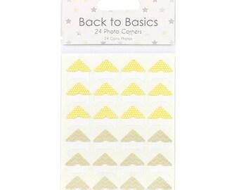 Baby Steps Stars Photo Corners Dovecraft Basics 24 Pack Scrapbooking Card Craft