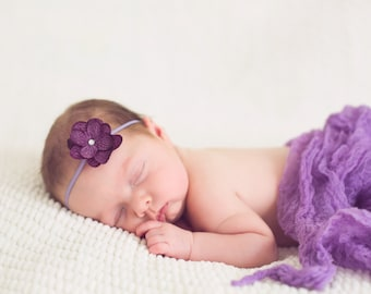 Twin Set Petite  Hydrangea Photography  Headband and Cheesecloth set.. Photo Props... Baby Girls