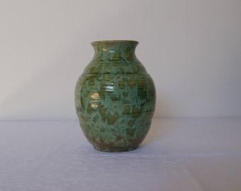 Dutch Pottery - green ceramic vase - N.V. de Sphinx Ceramique, Holland - design Wim Visser - ca 1950