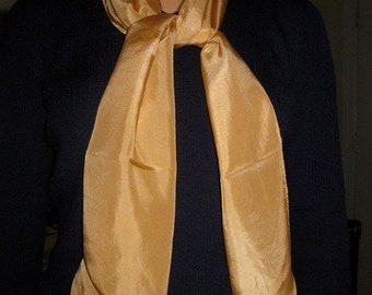Naturally Dyed Silk Scarf - Subtle Gold