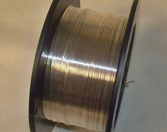 5 Feet Sterling Silver Round Wire - 22 Gauge; Half Hard