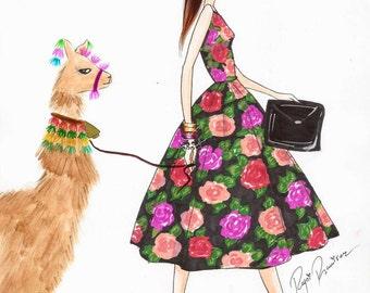Fashion illustration, fashion print, girl boss art, fashion poster, fashion wall art, girly wall art, fashion wall decor, office wall art