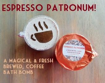 Espresso Patronum! A Magical & Fresh Brewed Coffee Bath Bomb