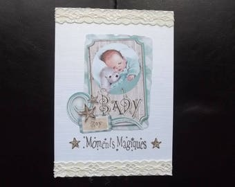 "Handmade card ""boy""."