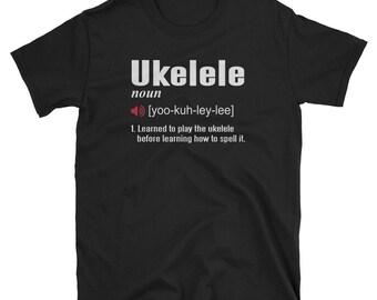 Ukelele Shirt Ukelele Gift Dictionary Definition