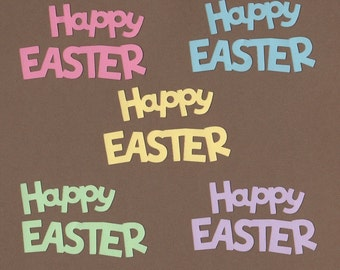 10 Happy Easter Die Cuts for Paper Crafts  Set #5700