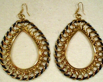 6 Pair Gold Tone Tear Drop Earrings NEW