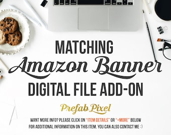 Amazon Cover Banner Add On - Made to Match