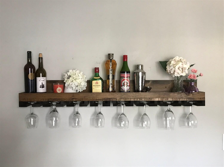 Margarita Amp Martini Glass Rack Rustic Wood Stemware Wine