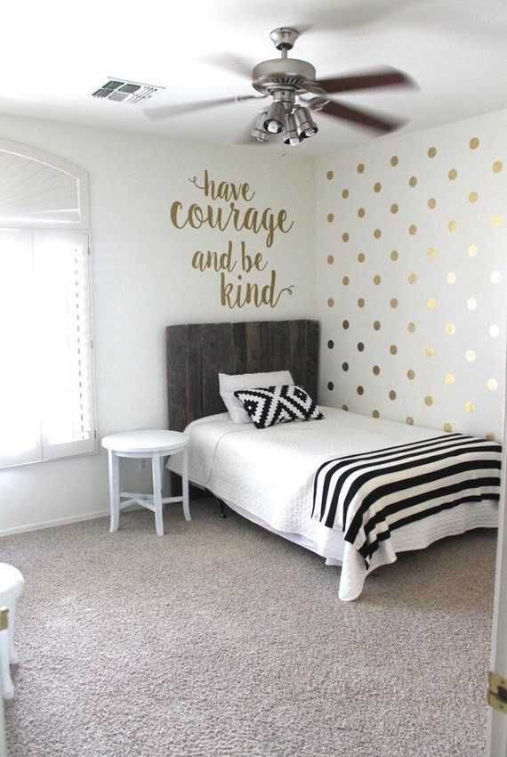 Very Cool Gold Polka Dots Wall Decals by WallTribe