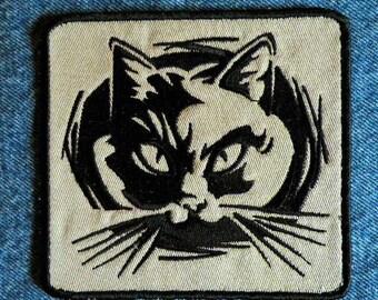 """Fierce Feline Iron on Patch 4.2"""" x 4.63"""""""