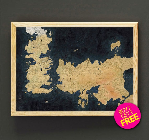 The known world map print game of thrones map art print poster like this item gumiabroncs Choice Image