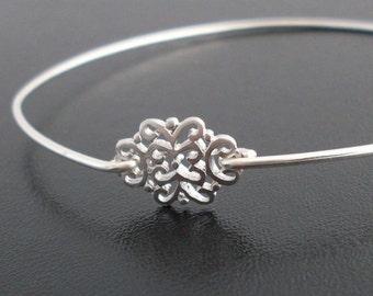 Silver Filigree Bracelet, Saskia, Silver Filigree Bangle, Silver Bracelet, Small Bangle Bracelet, Small Bracelet, Silver Filigree Jewelry